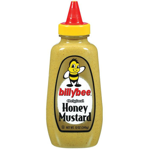 Billybee Original Honey Mustard 12 Oz Squeeze  (Pack of 6)