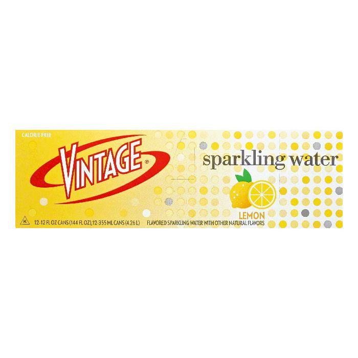Vintage Lemon Sparkling Water, 12 ea (Pack of 2)