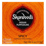 Sharwood Puppodums Spicy, 4 OZ (Pack of 12)