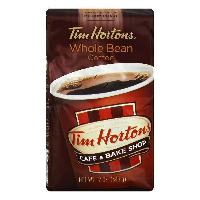 Tim Hortons Medium Roast Whole Bean Coffee, 12 OZ (Pack of 6)
