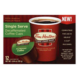 Tim Hortons Decaffeinated Medium Roast Single Serve Coffee, 12 ea (Pack of 6)