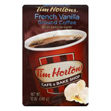 Tim Hortons French Vanilla Medium Roast Ground Coffee, 12 OZ (Pack of 6)