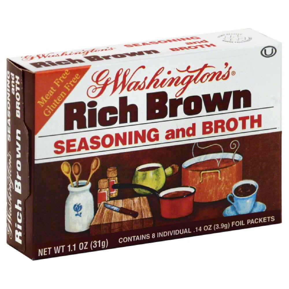 G Washingtons Rich Brown Seasoning and Broth, 1.1 Oz (Pack of 24)