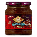 Patak's Chutney Hot Mango, 12 OZ (Pack of 6)