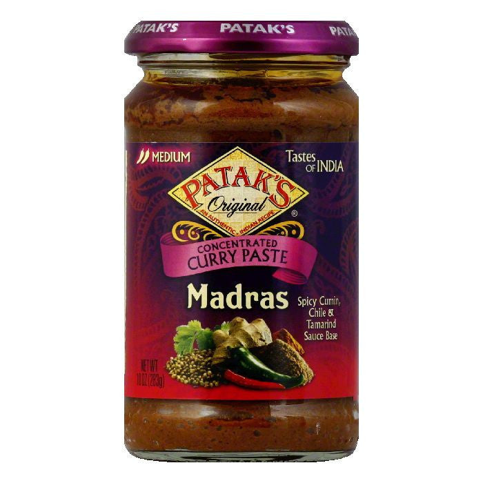 Patak's Curry Paste Madras, 10 OZ (Pack of 6)