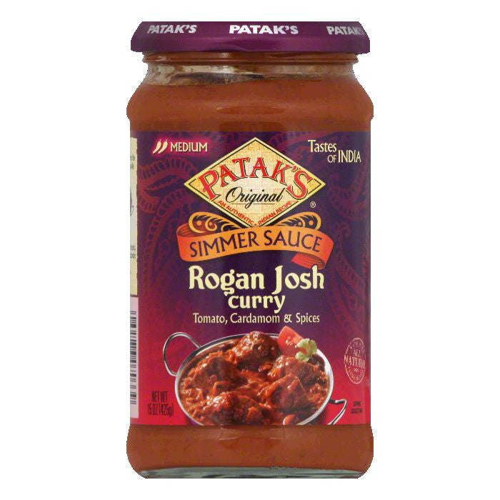 Patak's Cooking Sauce Spicy Tomato & Cardamom *Rogan Josh*, 15 OZ (Pack of 6)