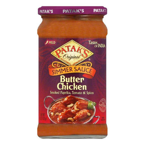 Patak's Cooking Sauce Butter Chicken, 15 OZ (Pack of 6)