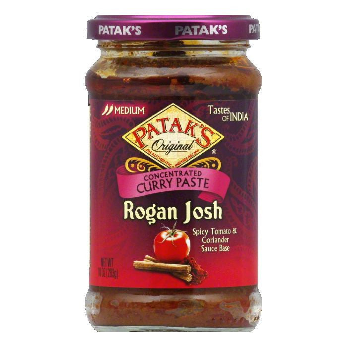 Pataks Medium Rogan Josh Curry Paste, 10 Oz (Pack of 6)