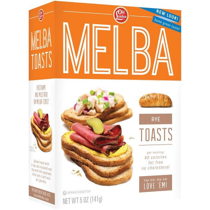 Old London Melba Toast Rye 5 Oz  (Pack of 12)