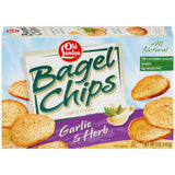 Old London Bagel Chips Garlic & Herb 5 Oz  (Pack of 12)