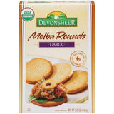 Devonsheer Melba Rounds Garlic 5.25 Oz  (Pack of 12)