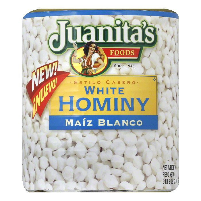 Juanitas White Hominy, 105 Oz (Pack of 6)
