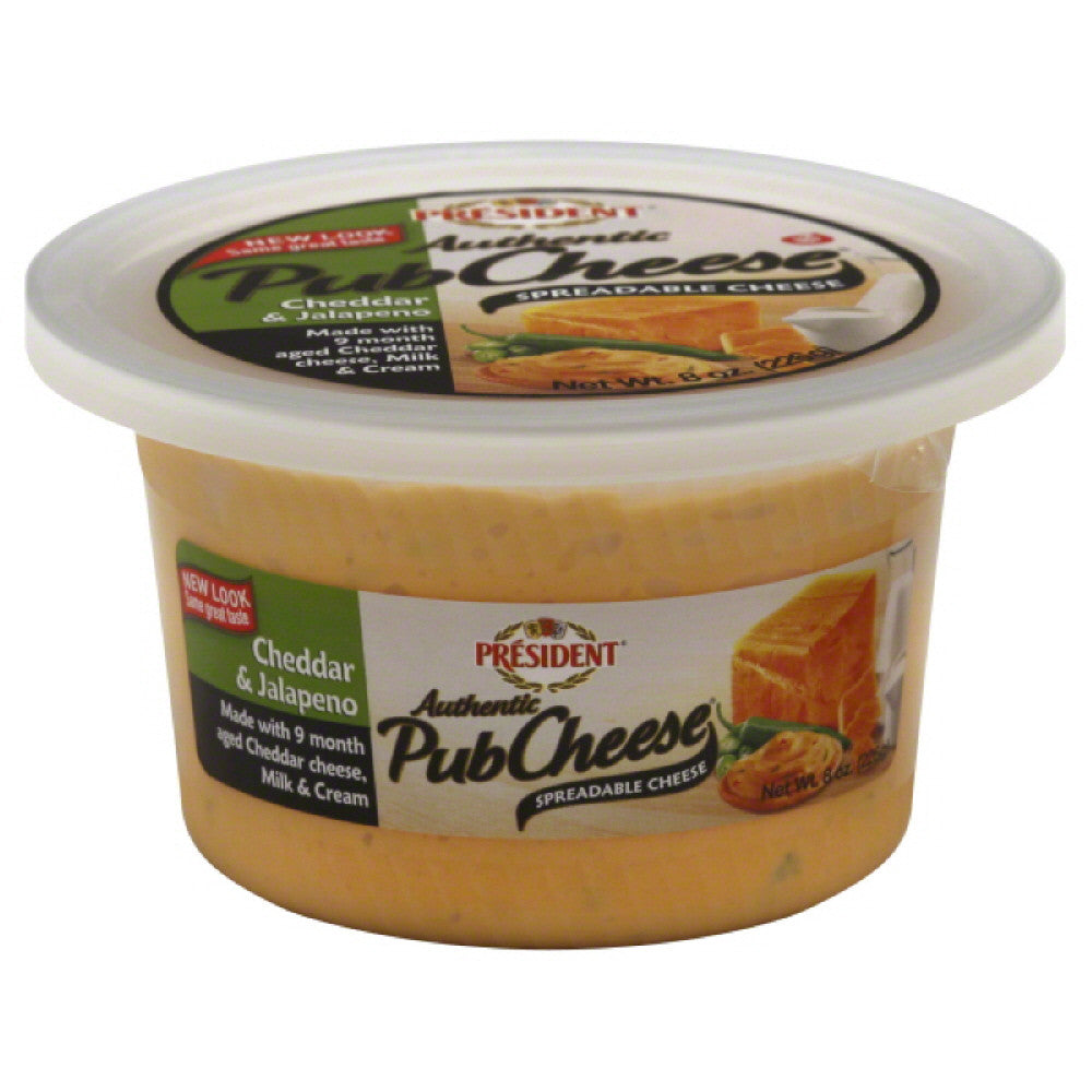 President Cheddar & Jalapeno Cheese Spread, 8 Oz (Pack of 6)