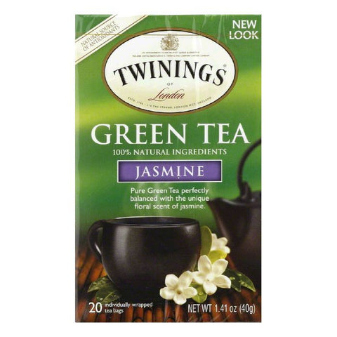 Twinings Green Tea Jasmine, 20 BG (Pack of 6)