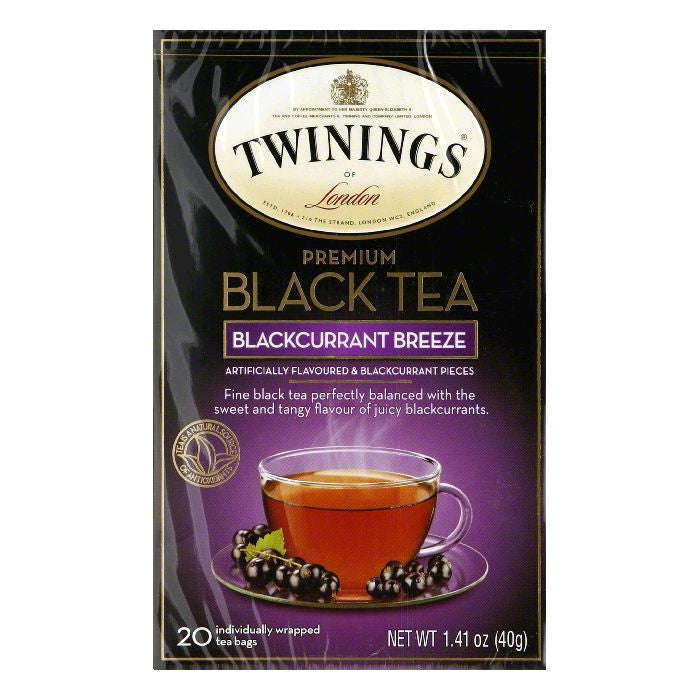 Twinings Tea Blackcurrant, 20 BG (Pack of 6)