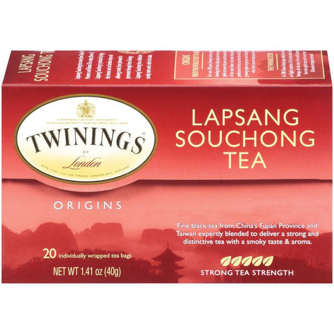 Twinings of London Origins Lapsang Souchong Strong Tea Bags 20 Ct  (Pack of 6)