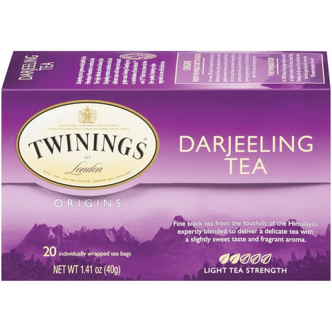 Twinings of London Origins Darjeeling Light Tea Bags 20 Ct  (Pack of 6)