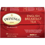 Twinings of London Classics English Breakfast Medium  Tea Bags 20 Ct  (Pack of 6)