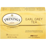Twinings of London Classics Earl Grey Light  Tea Bags 20 Ct  (Pack of 6)