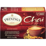 Twinings of London Chai  Tea Bags 20 Ct  (Pack of 6)