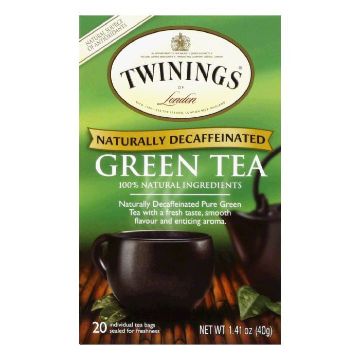 Twinings Green Tea Decaf, 20 BG (Pack of 6)