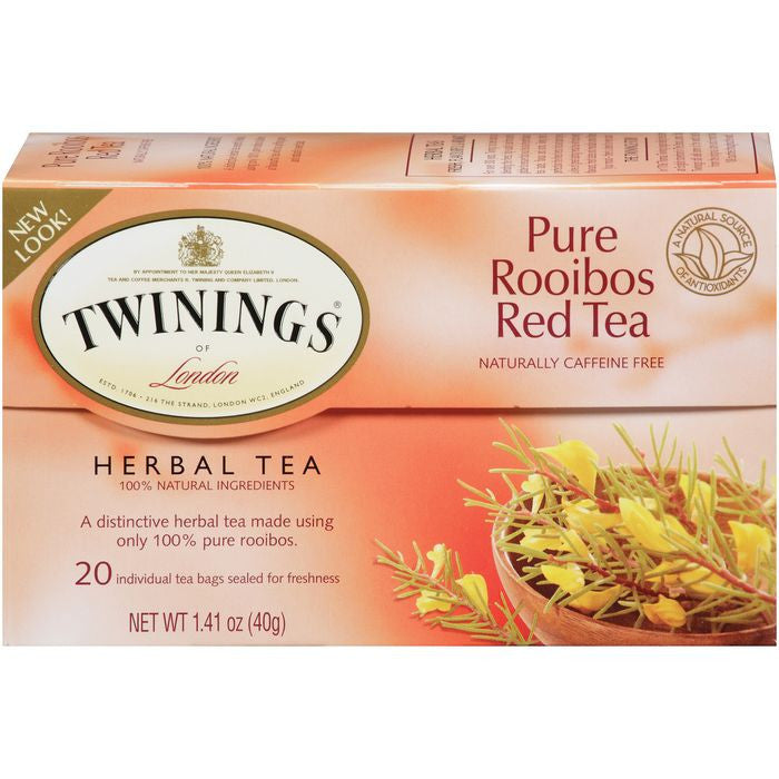 Twinings Pure Rooibos Red Tea (Pack of 6)