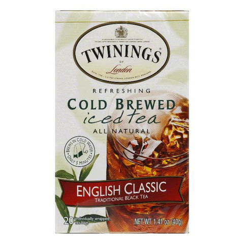 Twinings English Classic Cold Ice Tea, 20 BG (Pack of 6)