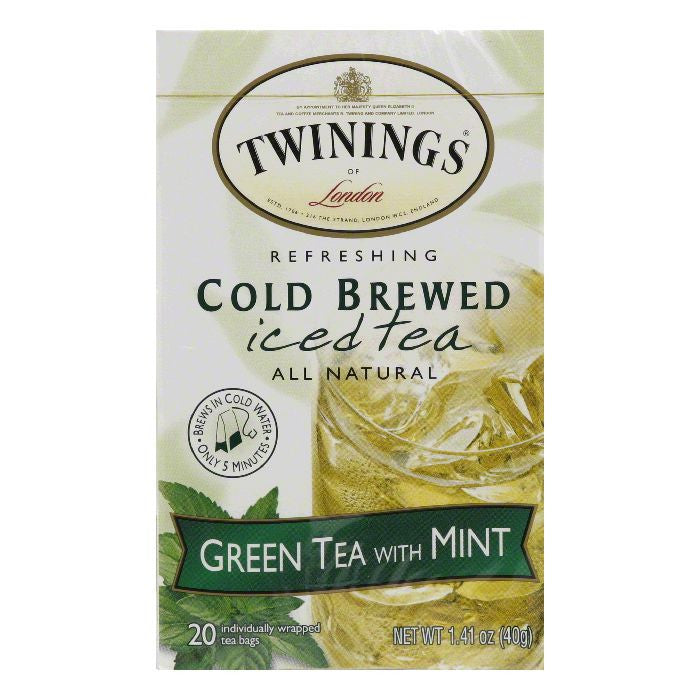 Twinings Green Mountain Ice Tea, 20 BG (Pack of 6)