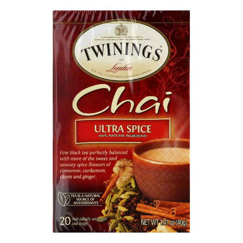 Twinings Spice Chai, 20 BG (Pack of 6)