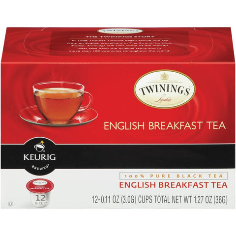 Twinings of London English Breakfast Tea 12 K-cups. (Pack of 6)