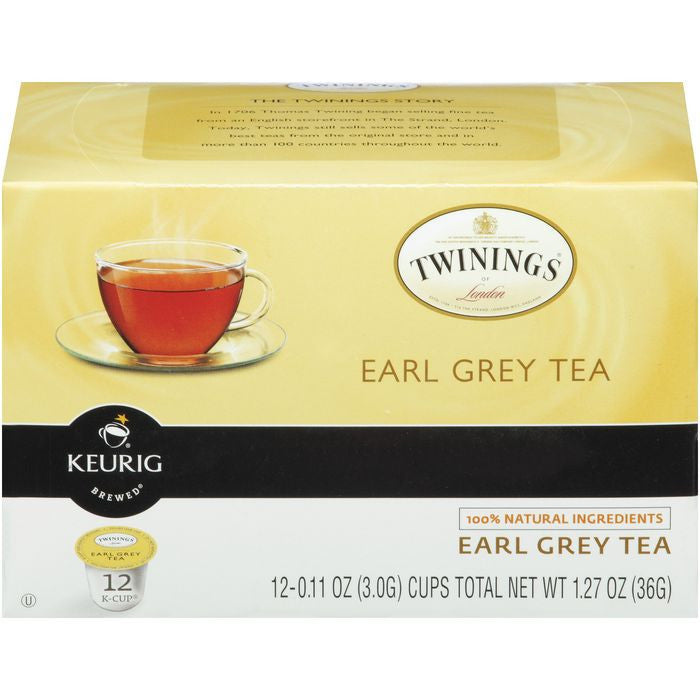 Twinings of London Earl Grey Tea 12 K-cups. (Pack of 6)