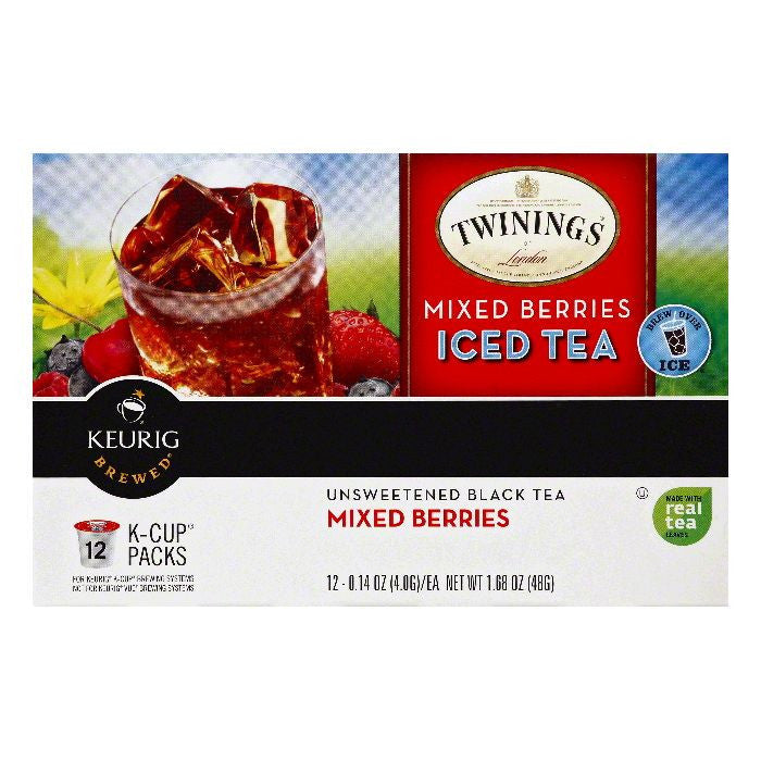 Twinings K-Cup Packs Mixed Berries Iced Tea, 12 ea (Pack of 6)