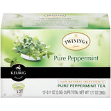Twinings of London Pure Peppermint Tea 12 K-Cups (Pack of 6)