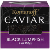 Romanoff Black Lumpfish Caviar 2 Oz  (Pack of 6)