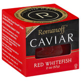 Romanoff Red Whitefish Caviar, 2 Oz (Pack of 12)