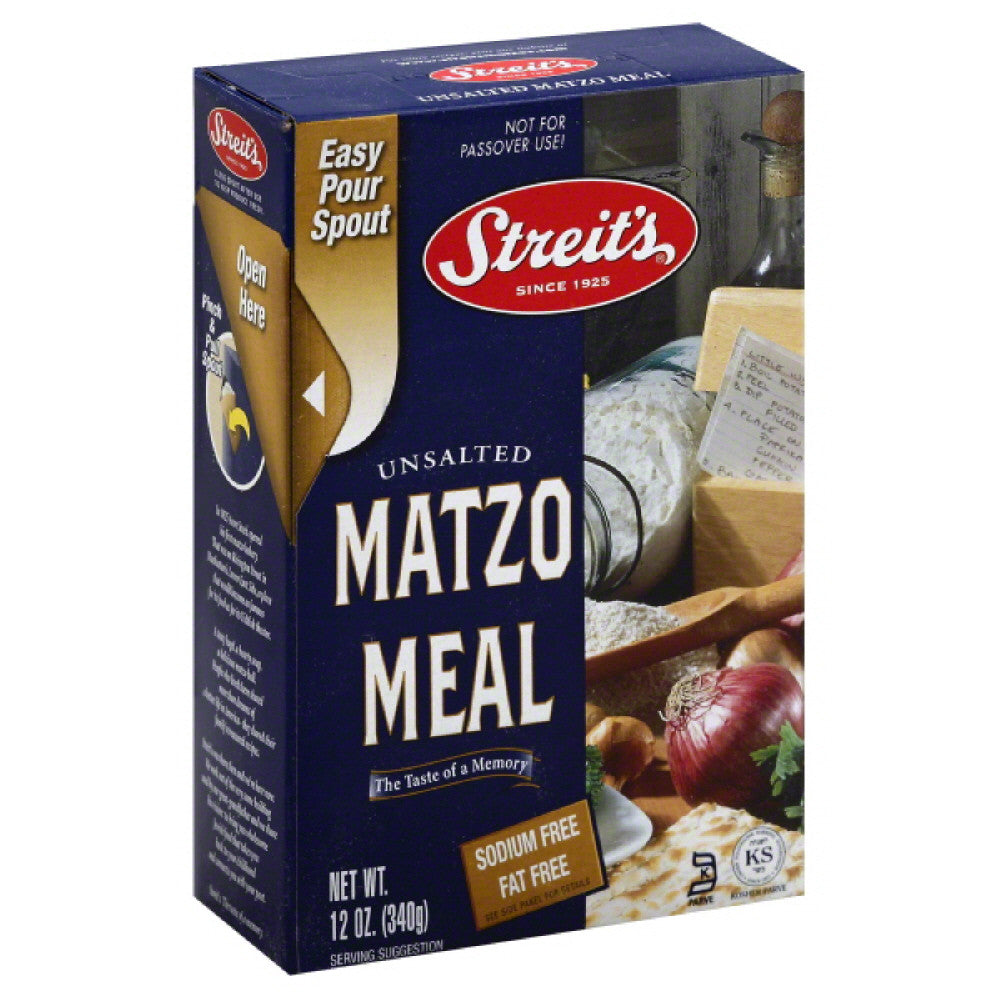 Streits Unsalted Matzo Meal, 12 Oz (Pack of 18)