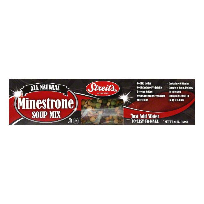 Streits Soup Minestrone, 6 OZ (Pack of 12)