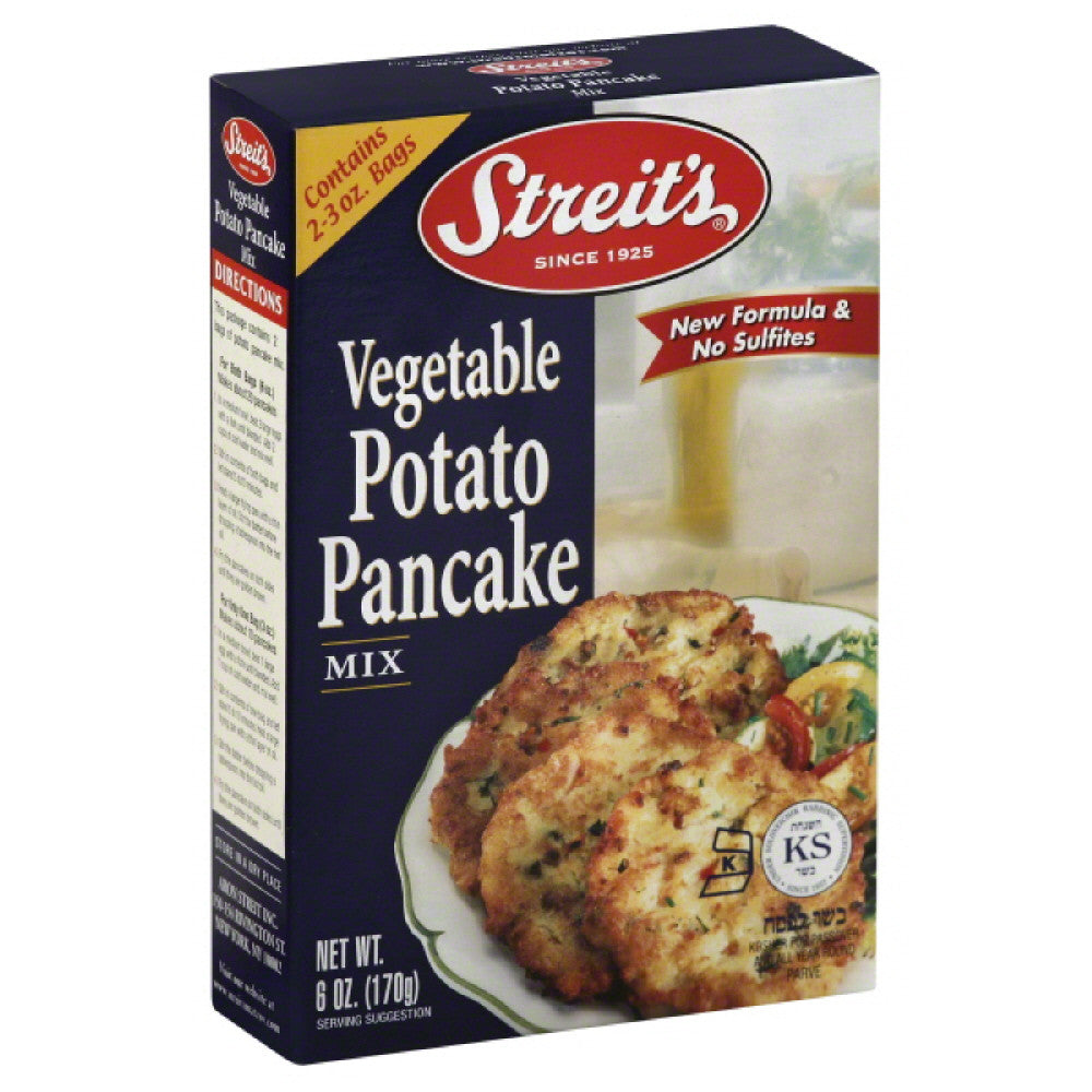 Streits Vegetable Potato Pancake Mix, 6 Oz (Pack of 12)