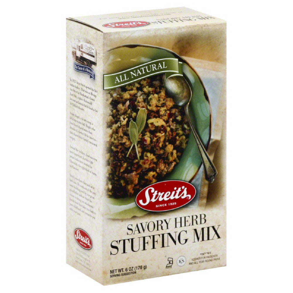 Streits Savory Herb Stuffing Mix, 6 Oz (Pack of 12)