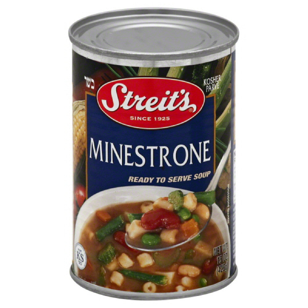 Streits Minestrone Ready to Serve Soup, 15 Oz (Pack of 6)