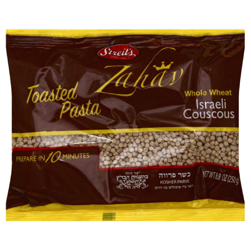 Streits Israeli Couscous Whole Wheat, 8.8 Oz (Pack of 24)