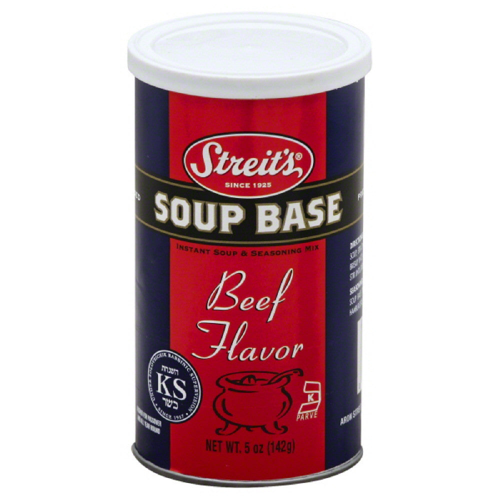Streits Beef Flavor Soup Base, 5 Oz (Pack of 6)