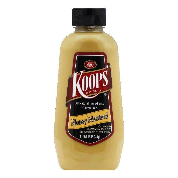 Koops Mustard Honey Squeeze, 12 OZ (Pack of 12)