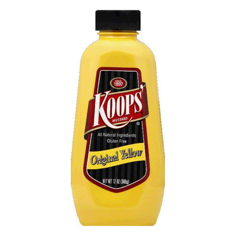 Koops Yellow Mustard, 12 OZ (Pack of 12)