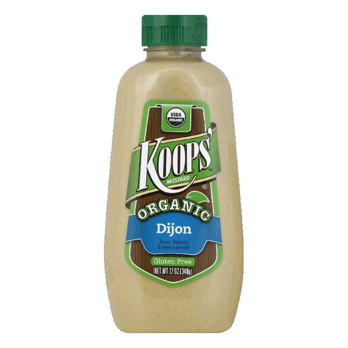 Koops Dijon Mustard, 12 FO (Pack of 12)