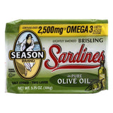 Seasons Sardines Brisling, 3.75 OZ (Pack of 12)