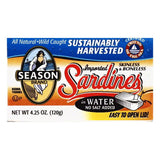 Season in Water Skinless & Boneless Sardines, 4.25 OZ (Pack of 12)