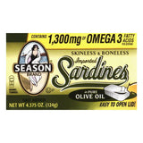 Seasons Sardine Skinless Boneless Club, 4.375 OZ (Pack of 25)