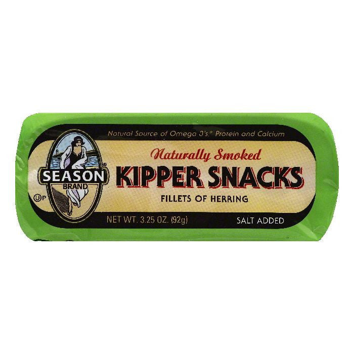 Season Naturally Smoked Kipper Snacks, 3.25 OZ (Pack of 24)