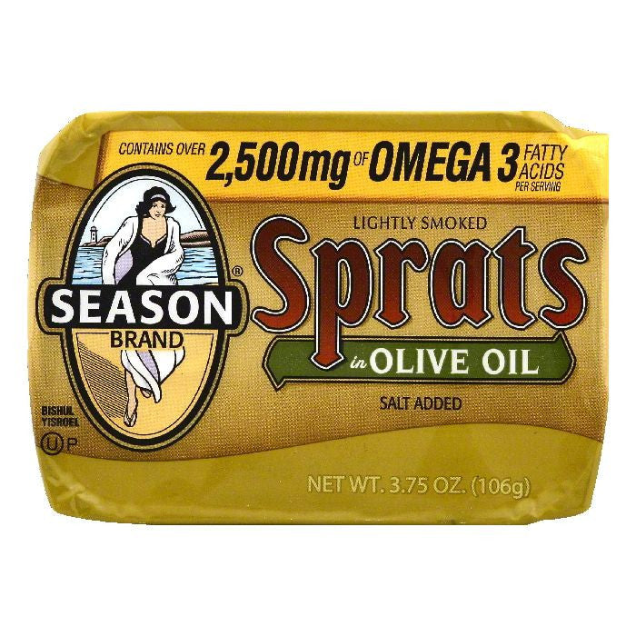 Season in Olive Oil Lightly Smoked Sprats, 3.75 OZ (Pack of 12)